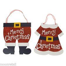 2x in legno MR Mrs Babbo Natale Buon Natale Firmare La Placca da appendere decorazione da parete