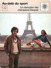 FICHE CARD Michel Platini Joueur de Football Champion des Champions L'Equipe 70s