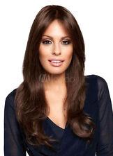 100% Cheveux naturels Perruques Long Brun foncé Ondulé Perruques Femmes toupets