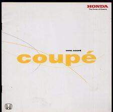 Honda Civic Coupe 1.7i 2001 UK Market Launch 14pp Sales Brochure