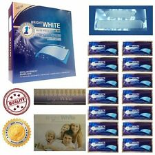 1 HOUR EXPRESS BRIGHT WHITE SUPERB TEETH WHITENING STRIPS 28 STRIPS/14 POUCHES