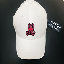 NWT Psycho Bunny Made For Mischief White Mens Baseball Trucker Cap RARE