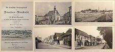 Flade Las iglesia Pasado de Dresden-Neustadt 1900. Piezas Iglesia de Petri xz