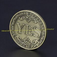 Floral YES NO Letter Commemorative Coin Ornaments Collection Souvenir Gifts Arts