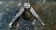 Masonic folding letter opener, Freemason, square and compasses design, UK legal