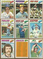 1977 TOPPS BASEBALL CARD LOT YOU U-PICK ANY 10 PICKS EX-EM-NM COMPLETE YOUR SET