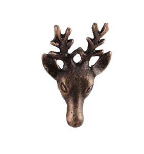 Iron Animal Deer Stag Head Cupboard Door Knob Bronze Metal Drawer Handle Style 7