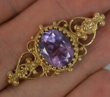 Victorian Design 9ct Gold and Amethyst Brooch p1865