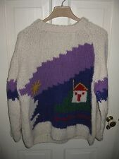 Grigoropoulos Brothers Olympic Popular Art Handknitted Wool Sweater - Unisex L