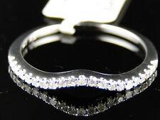 14K LADIES WHITE GOLD ENGAGEMENT WEDDING BRIDAL BAND GENUINE DIAMOND RING