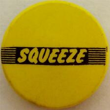 "SQUEEZE Logo Vtg 70`s80`s Button Badge Pin(25mm-1"") #SQU105"