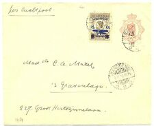 NED INDIE DUTCH INDIES  1928-11-3  UPRATED PS CV  BANDOENG-HOLLAND  F/VF