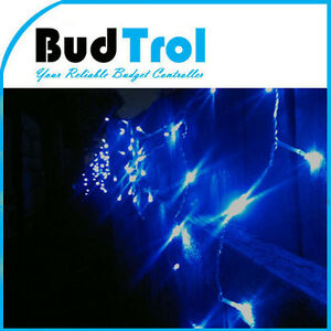 31M 500 LED Blue Color Bulb Clear Cable Icicle Lights Party Wedding Christmas