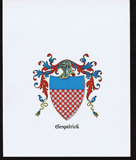 Gospatrick Coat of Arms & Family Crest - Vintage Print