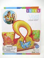 """Intex  Aqua Swim Vest  26"""" x 17.5""""  Ages 3 to 6 Multi Colored 58673EP"""