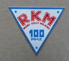 AUTOCOLLANT RADIO - RKM RADIO KELLY MILANO 100 MHZ *