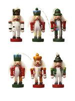 Set of 6 Hanging Wooden Nutcracker Christmas Tree Decorations Heaven Sends Xmas