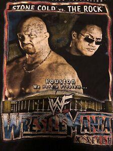 Vintage WWE Wrestlemania 17 T Shirt Stone cold Steve Austin vs The Rock WWF Rare