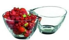 RCR Crystal Set of 2 Small Fruit Bowls With Teardrop Shape Dessert Bowls
