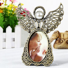 Vintage Angel Wings Photo Frame Desk 3-inch Photo Metal Frames Home Room Decor