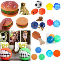Interactive Dog Squeaky Toys Pet Puppy Cat Sound Squeaker Chew Play Ball Toy Fun