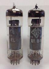 Pair Of Telefunken EL84 6BQ5    Bottom Tubes - Germany - Tested