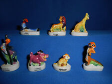 LION KING Set of 7 Miniaure Figures French Porcelain FEVES Mini Figurines DISNEY