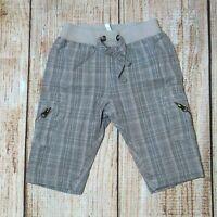 Baby Boys FOX & FINCH Check Cargo Pants ~ Size 00 ~ Elastic Waist ~ MBC