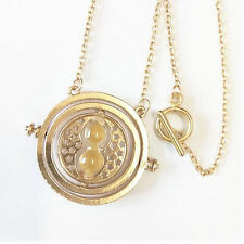 Harry Potter Time Turner Necklace Hermione Granger Rotating Spins Hourglass Gift