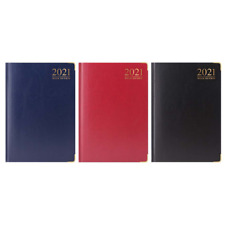 Premium Quality 2021 A5 Week to View Diary Padded Hardback Gilt Edge New