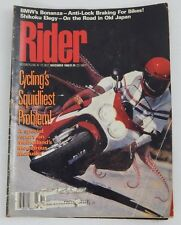 Nov '88 RIDER Magazine Motorcycle Motorcycling BMW Shikoku Road Old Japan Report