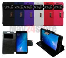 Funda soporte libro ventana Xiaomi MI MAX 2 + protector cristal opcional