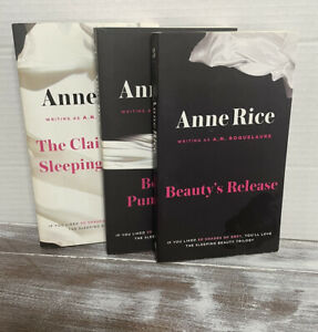 Anne Rice Books Sleeping Beauty Trilogy Lot of 3 PB CLAIMING,PUNISHMENT,RELEASE