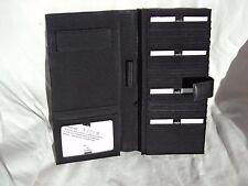 Simon 142LM Black Leather Tall Passport Wallet