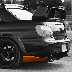 Rear splitters canards side skirts for Subaru Impreza GD 2000-2007