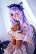 "1/6 6-7"" 15-17cm Bjd Doll Hair Wig Long Light Purple Professional Layer Skill Xf"