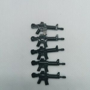 M4 x5  Army Weapons compatible with Lego SWAT MOC Bulk Pack - UK STOCK -
