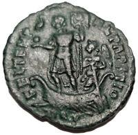 CONSTANS 337-350 AD Æ Roman Bronze Coin Galley Aquileia
