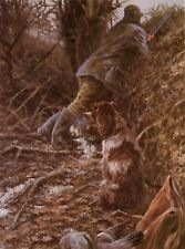 More details for english springer spaniel gun dog art limited edition print - by mick cawston
