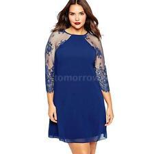 Chiffon V Neck Plus Size Shirt Dresses
