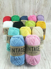 Vintage Cotton DK Yarn 100g ball multicoloured crochet and knitting wool