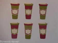 """6 coffee cups   2 1/4"""" die cuts"""