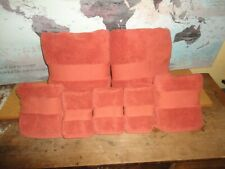 RALPH LAUREN CHAPS CLAREMONT PUMPKIN (7PC) BATH & HAND TOWELS WASHCLOTH SET