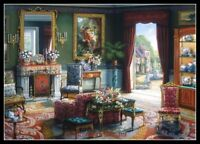 Livingroom Afternoon - Counted Cross Stitch Patterns Needlework for embroidery