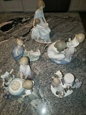 Lladro Figurine Set Collectibles Hand Made In Spain 5 Pieces