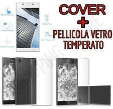 CUSTODIA COVER TPU GEL per SONY XPERIA L1 + PELLICOLA in VETRO TEMPERATO