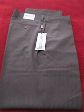 BERTUCCI SATIN LINED GREY STRIPE TAILORED TROUSER PANTS MENS 36W X 32L NWT