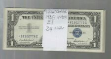 Silver Certificate $1 1935's & 1957's  ef 34 notes