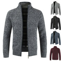Men's Sweater Winter Warm Thicken Zipper Pullover Sweater Casual Knitwear Coat