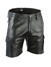 AW-547 Cargo Ledershorts Glattes leder Shorts,kurze lederhose,echt leder hose,